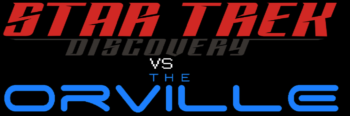 Star Trek. The Orville. Taken from Wikimedia Commons and Modified.
